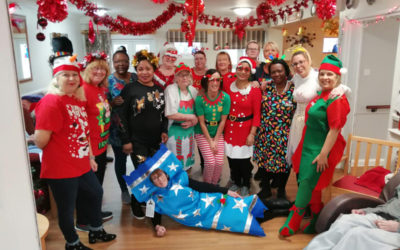 Christmas dress up day at Meyer House Care Home