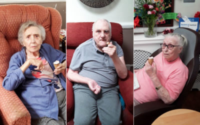 Ice creams and smiles at Meyer House Care Home