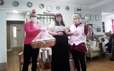 Baby shower fun and games at Meyer House Care Home