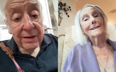 Meyer House Care Home residents take their first selfies