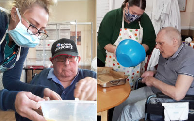 Cake making and music at Meyer House Care Home