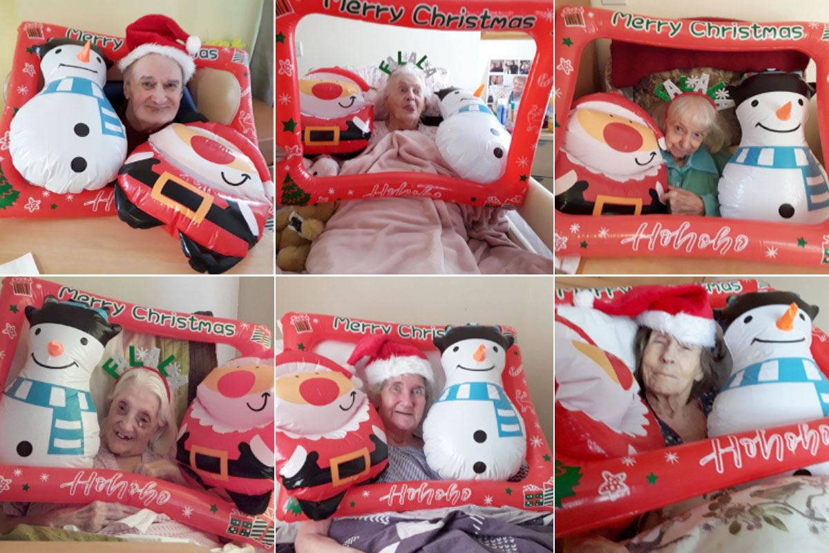 Festive photo fun at Meyer House Care Home