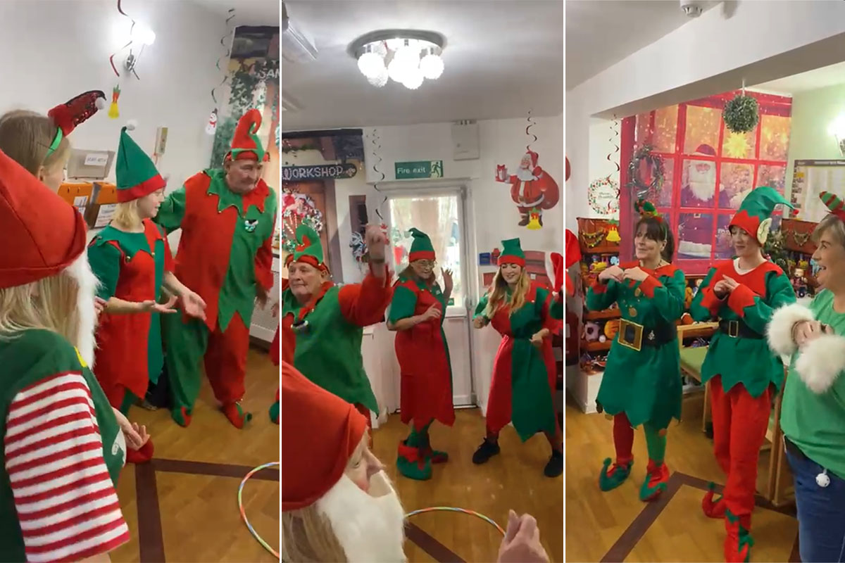 Santas elves are working hard at Meyer House Care Home