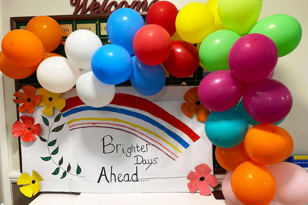 Brighter Days Ahead display at Meyer House Care Home