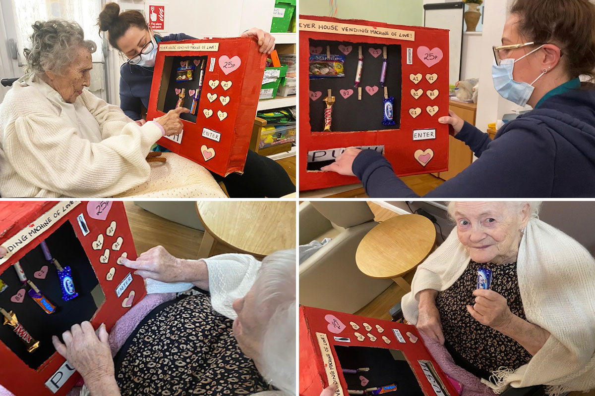 Vending machine treats at Meyer House Care Home