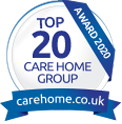 Top 20 Care Home Group Award Logo
