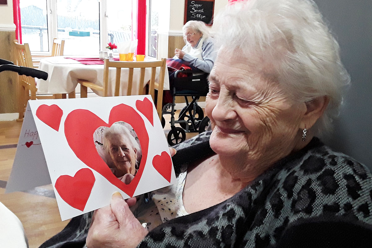 Valentines crafts and Cruise checklists at Meyer House Care Home
