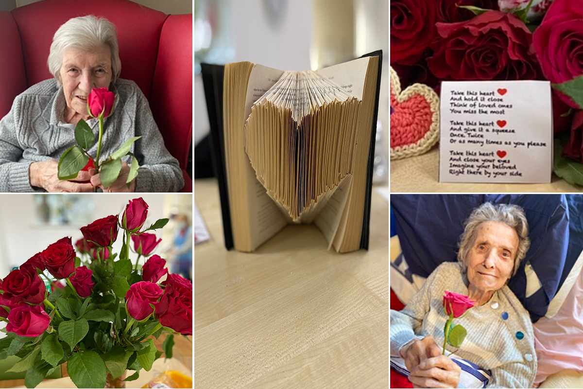 Valentines celebrations at Meyer House Care Home