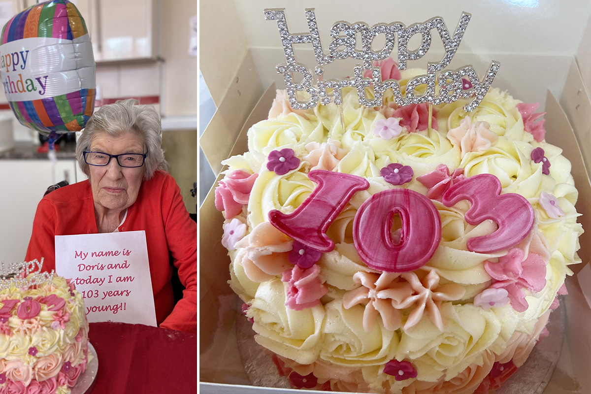 Doris turns 103 years young at Meyer House Care Home