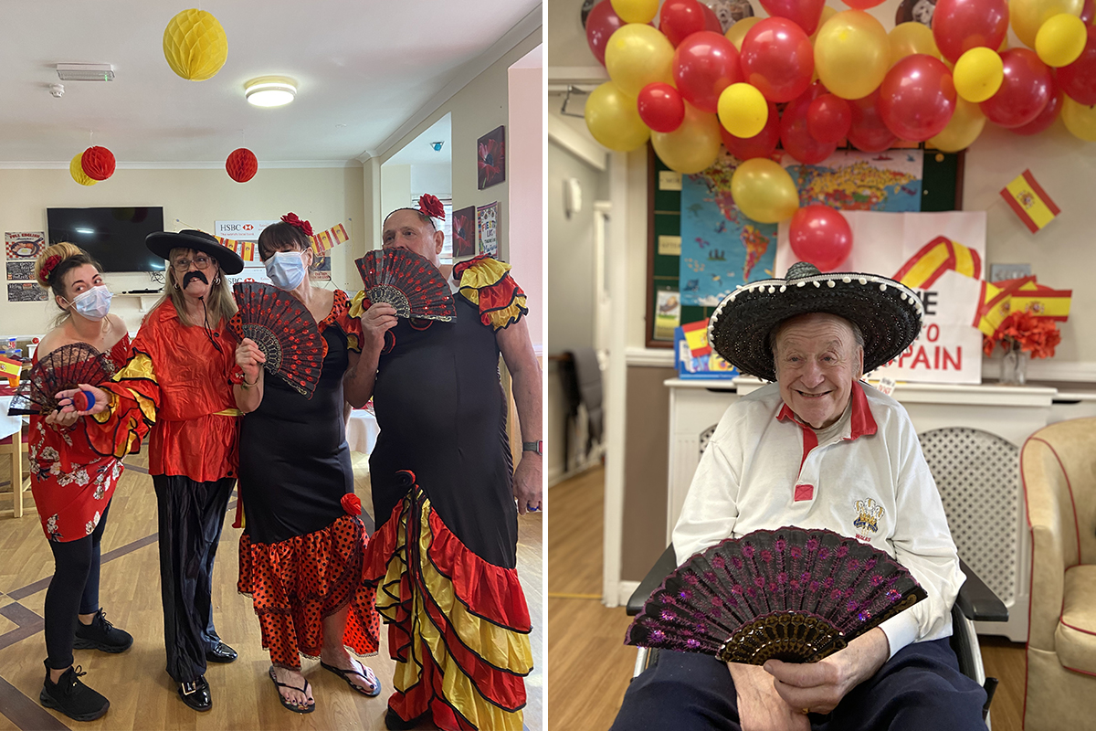 Colourful Spanish celebrations at Meyer House Care Home