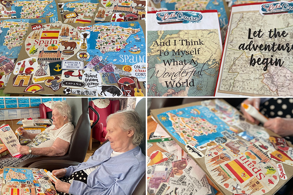 Meyer House Care Home residents update their travel journals