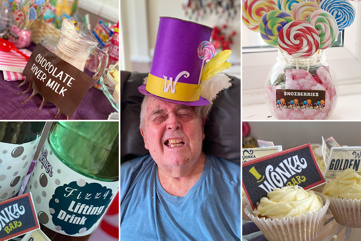 A Willy Wonka themed Easter at Meyer House Care Home