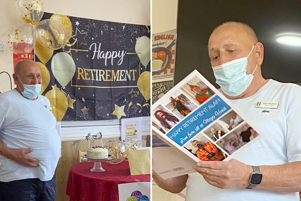 Handyman Alan retires from Meyer House Care Home