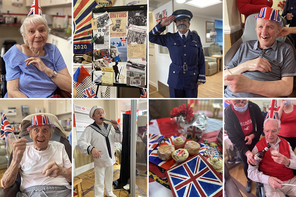 VE Day entertainments at Meyer House Care Home
