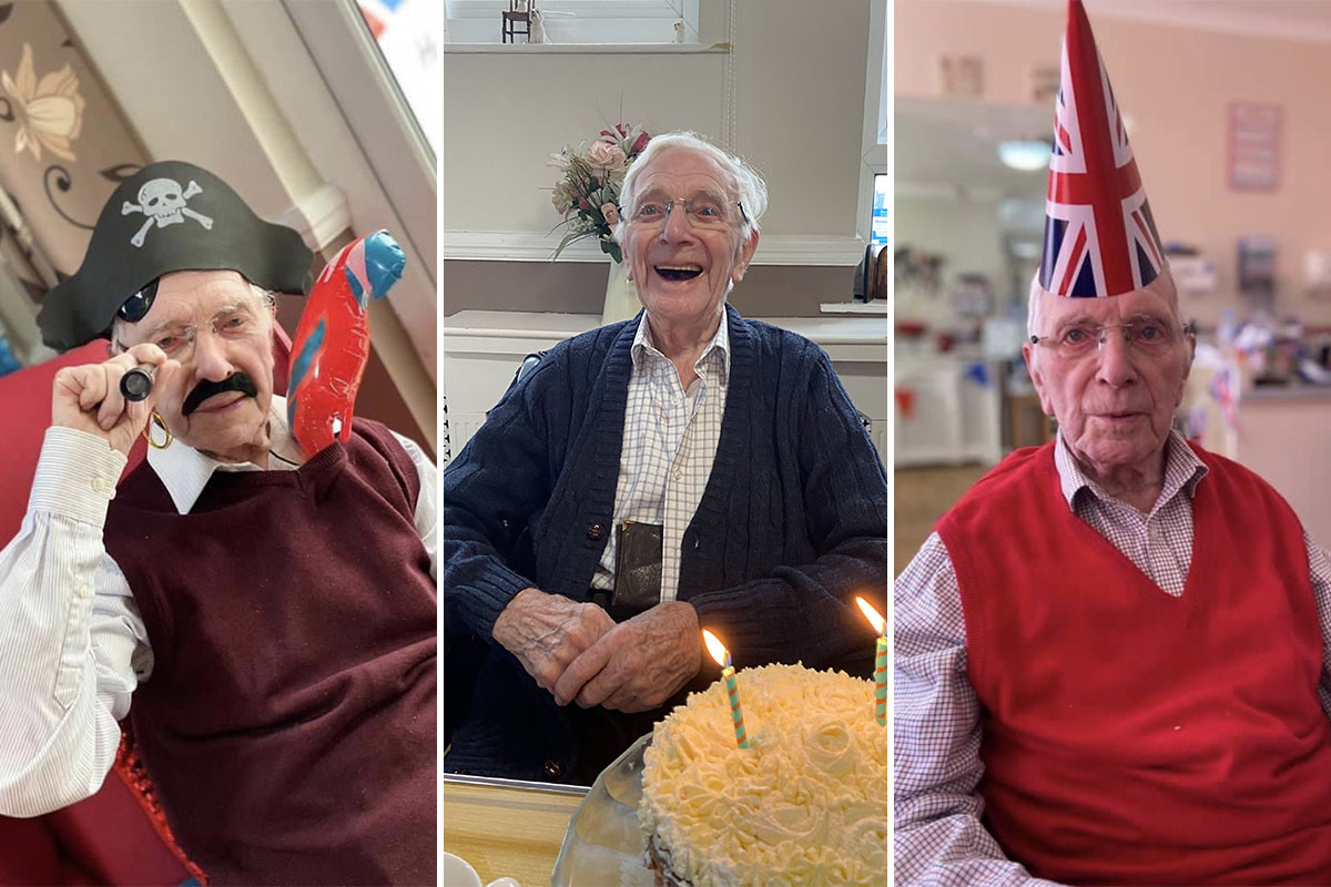 Birthday wishes for Bill at Meyer House Care Home