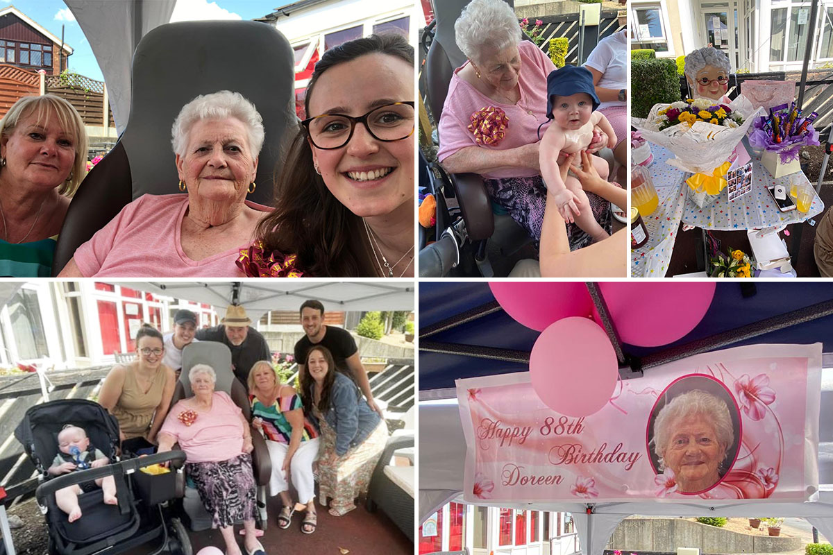 Many happy returns to Doreen at Meyer House Care Home