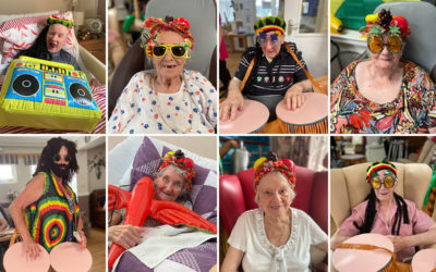 Caribbean themed party at Meyer House Care Home