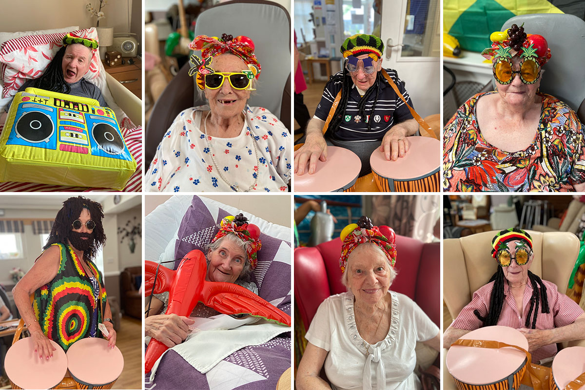 Caribbean cruise party at Meyer House Care Home