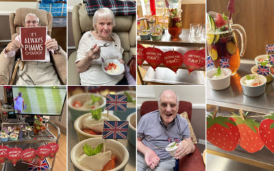 Wimbledon themed afternoon at Meyer House Care Home