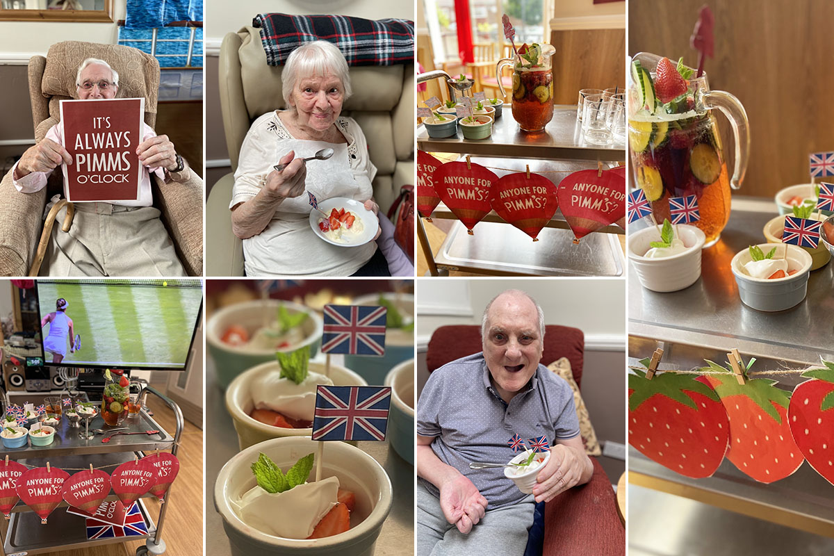 Wimbledon afternoon at Meyer House Care Home