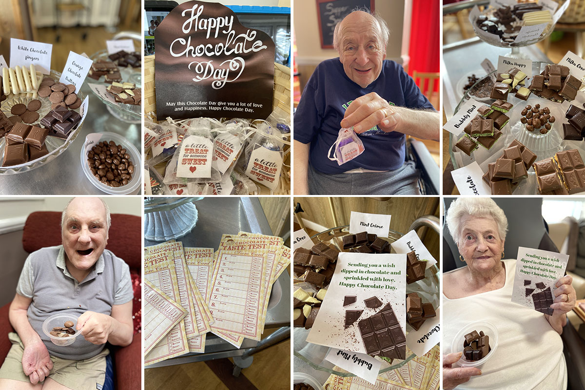 Meyer House Care Home residents celebrate World Chocolate Day