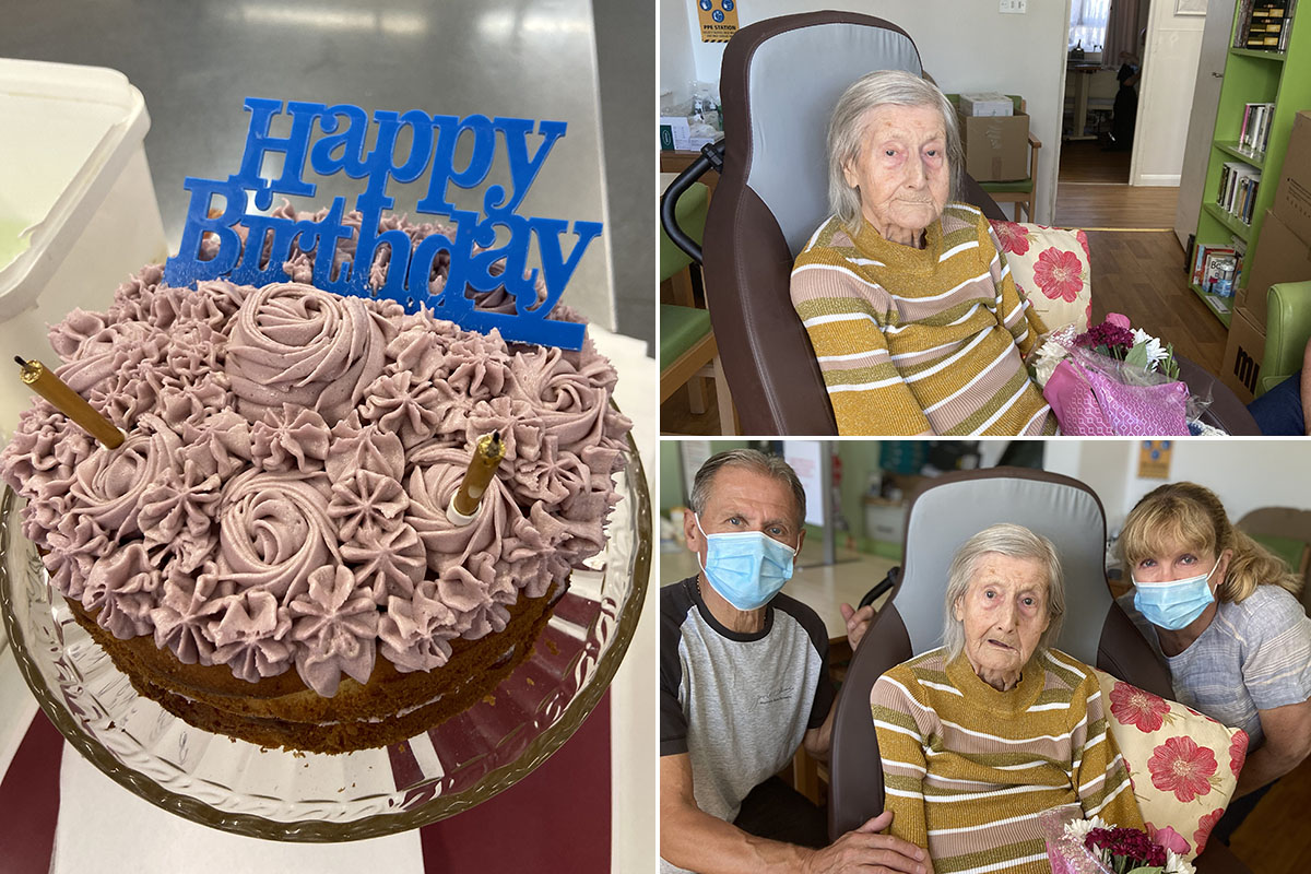 A happy birthday for Eileen at Meyer House Care Home
