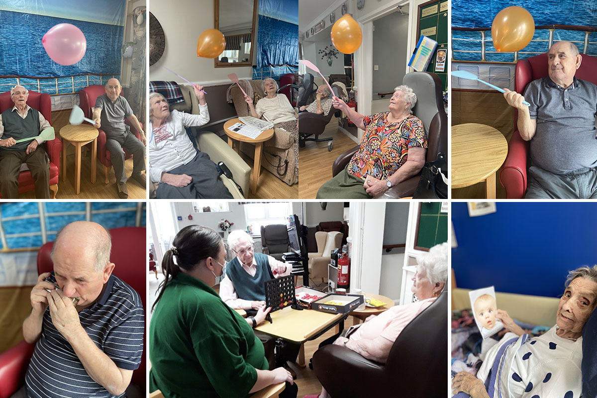 Meyer House Care Home residents enjoy an afternoon of games
