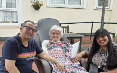 Surprise family visit for Lilian at Meyer House Care Home