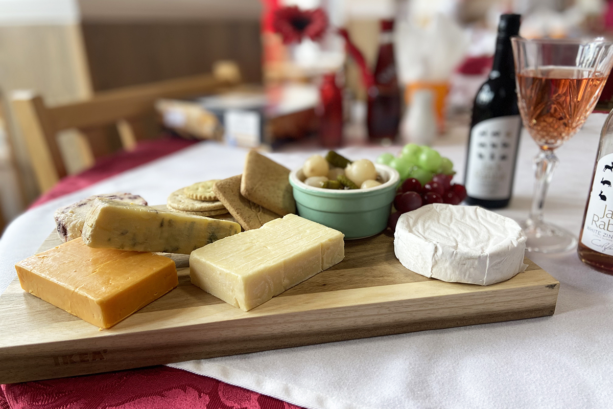 Cheeky cheese and wine afternoon at Meyer House Care Home