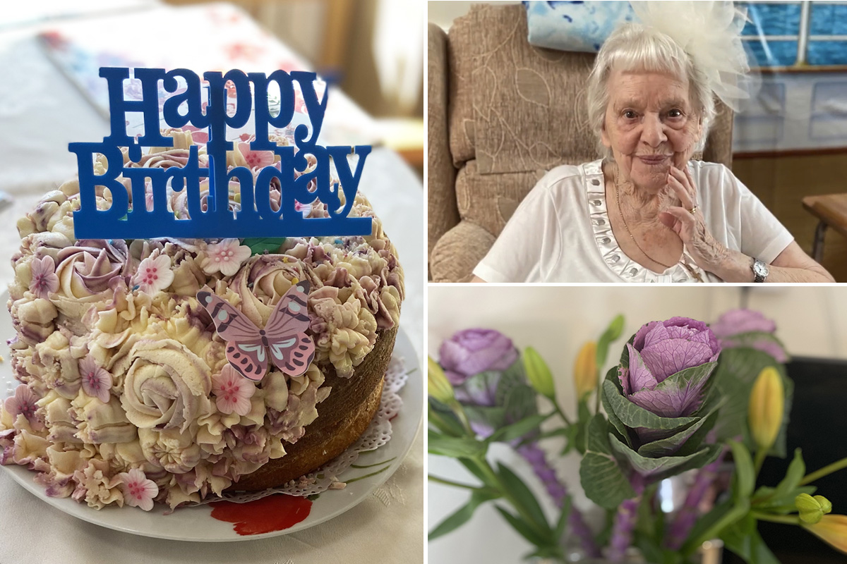 Lilian celebrates turning 95 at Meyer House Care Home