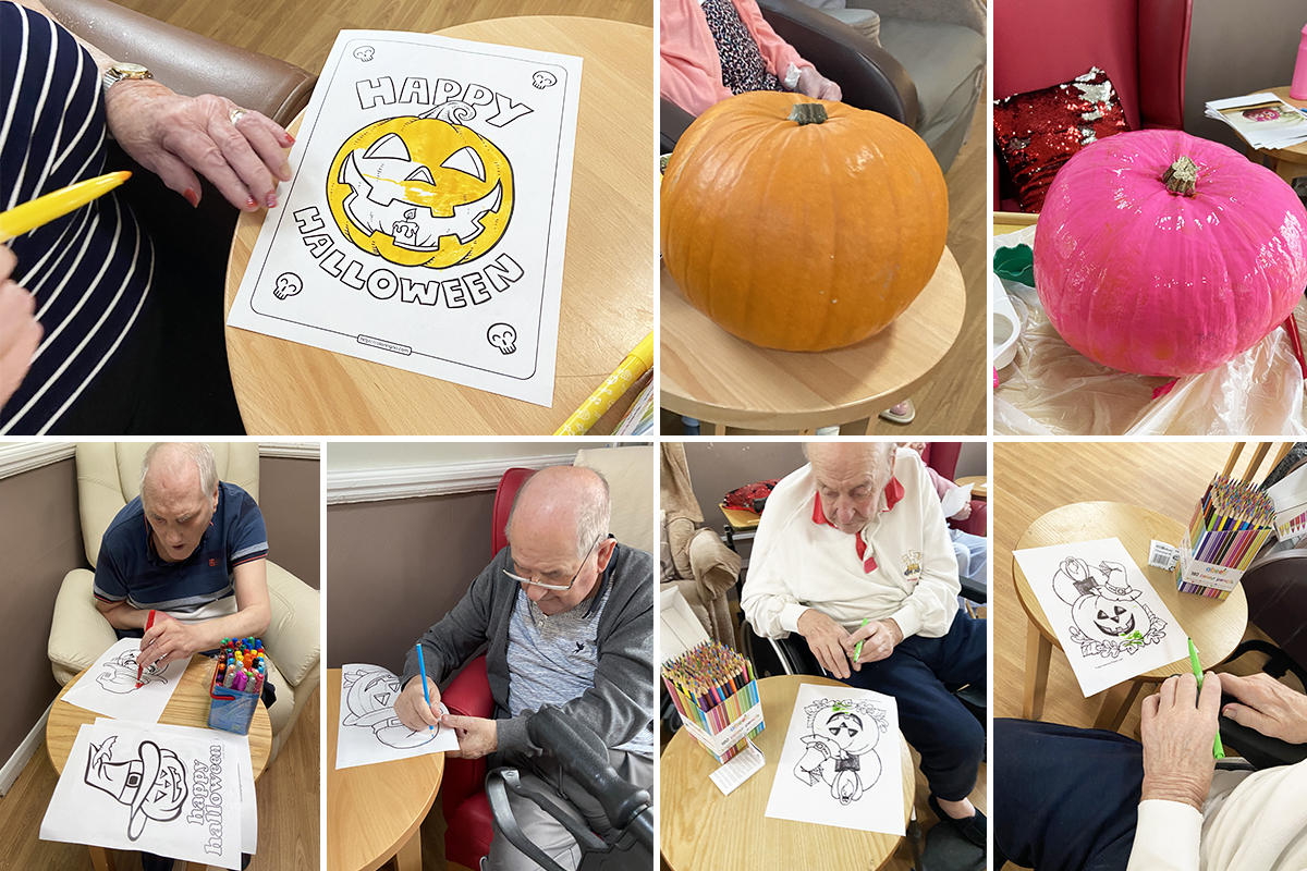Perfecting their pumpkins at Meyer House Care Home