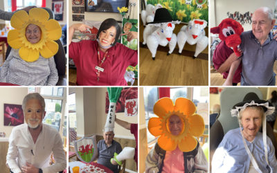 Meyer House Care Home residents go camping in the Welsh valleys